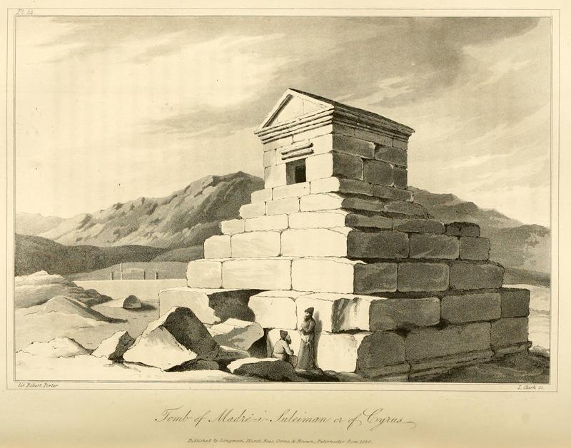 مقبره کوروش - اثر رابرت کرپورتر – 198 سال پیش - By Robert Ker Porter, 1818