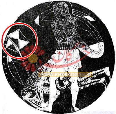 نگاره جام دوریس (نیر نوری، 1344: ص 33) - درفش کاویانی