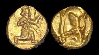 دریک نخستین سکه ایرانی