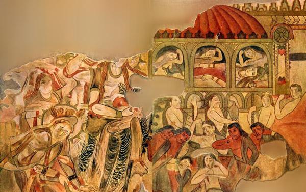سوگواری در ایران باستان، سوگ سیاوش در سغد باستان
