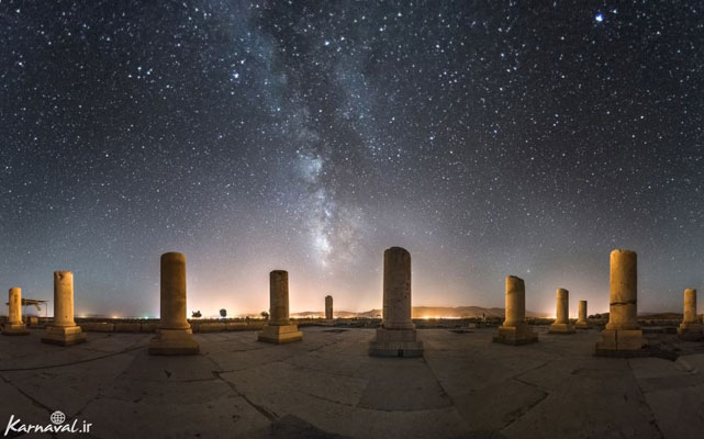 جلوه زیبایی از پاسارگاد در شب