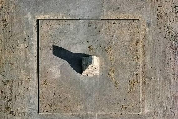 نمای هوایی آرامگاه کوروش