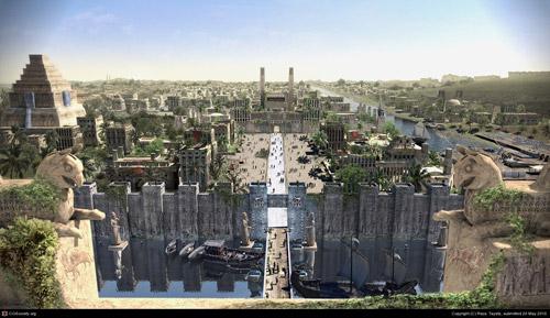 نگاره ای خیالی از شکوه بابل در دوران باستان