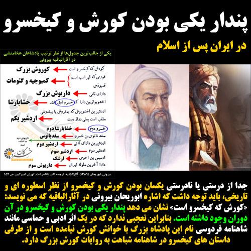 پندار یکی بودن کوروش و کیخسرو در ایران پس از اسلام
