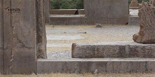 کف سازی کاخ تچر تخت جمشید | تخت جمشید ناتمام