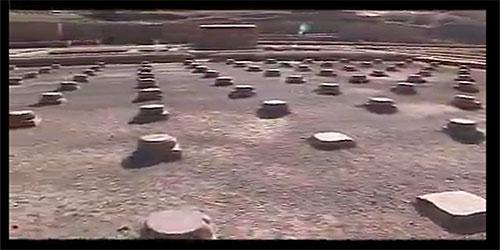 پایه ستون های خزانه تخت جمشید