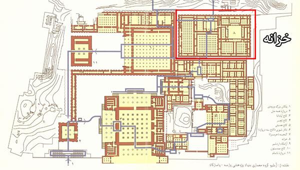 نقشه خزانه تخت جمشید