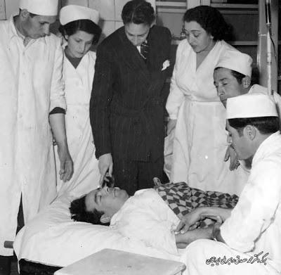 پیکر دکتر حسین فاطمی در بیمارستان
