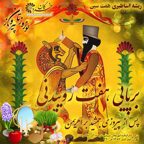 ریشه اساطیری هفت سین، برپایی هفت روییدنی پس از پیروزی جمشید بر اهریمن