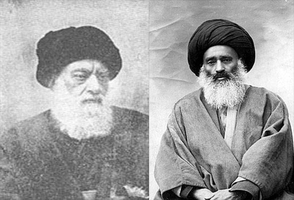 آقایان بهبهانی و طباطبایی از روحانیون مشروطه خواه ضد شیخ فضل الله نوری