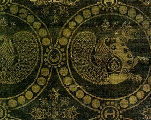 پارچه ابریشمی ساسانی